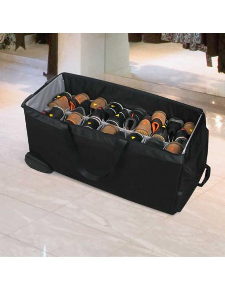 Collection de chaussures dans les alvéoles