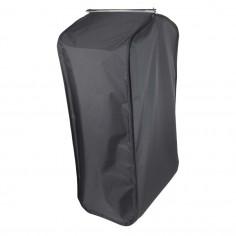 Black garment bag with side...
