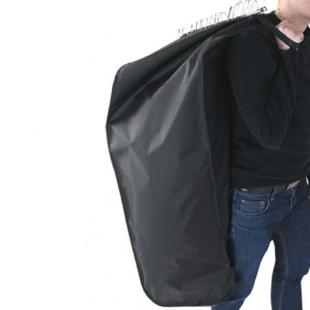 Housse noire en nylon - anses de portage